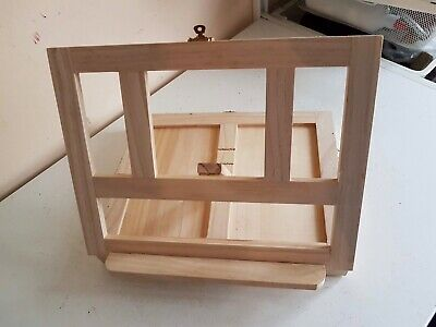 Wooden Travel Artist Sketching Easel Folding Tabletop Painting w Storage Drawer