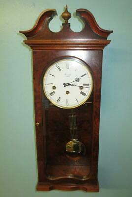 Comitti of London Westminster Chime Mahogany/Walnut Break Arch Mantle Clock