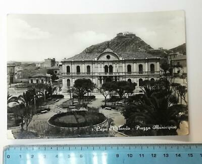 92845 Cartolina - Messina - Capo d'Orlando - Piazza Municipio - VG 1956
