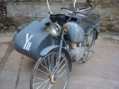 Military motorcycle & sidecar 1/2 full size model German Russian 5 foot long