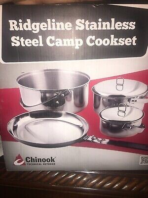 See description Stainless Steel Chinook 41025 Cook Set Trio