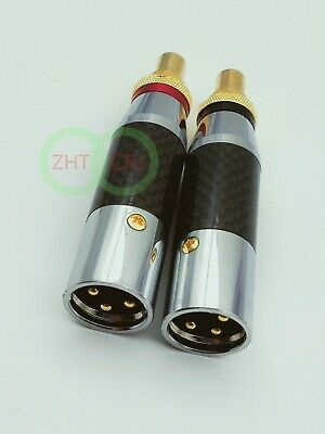 XLR Female/ XLR Male to RCA Female Socket Adapter Gold connector