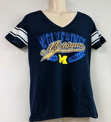 e9b463eb1a Michigan Wolverines Short Sleeve V-neck Tee size XL by 4her Carl Banks UofM