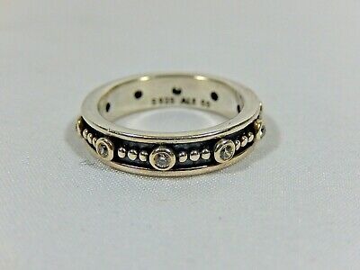 b434ec45d Pandora Ale 925 Sterling Silver And Cz Royalty Eternity Stack Ring S5 Ex.  Cond.