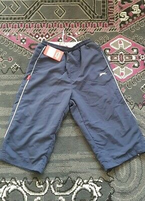 11_12 Year Boys Navy Blue Slazenger 3/4 Three Quarter Jogging Bottoms/ Trouser