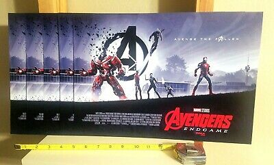 5 Lot Marvel Avengers END GAME Avenge the Fallen IMAX AMC 11 x 15.5 Movie Poster