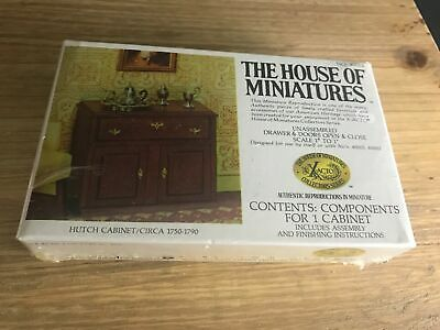 X-Acto House Of Miniatures #40003 HUTCH CABINET CIRCA 1750-1790 Sealed NEW WOOD