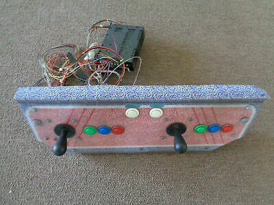 6 button control panel with jamma wiring harness + power supply arcade game CBJ