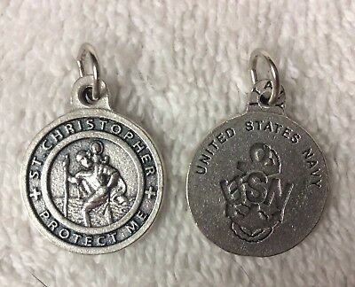 """Saint Christopher """"Protect Me"""" United States Navy Medal From Italy"""