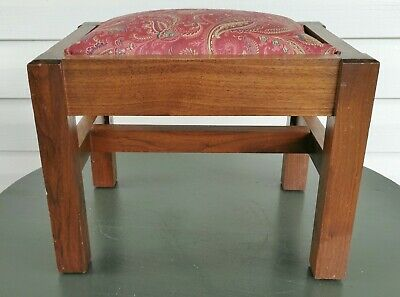 antique style mission footstool ottoman arts and crafts hardwood mahogany
