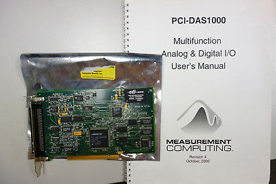 Measurement Computing 193791A-01 PCI-DAS1000 Analog Multifunction 16 Ch Board