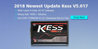 💡2019 Ksuite V2.47 Software KESS V2 V5.017 Unlimited Tokens ECU TUNING OBD OBD2