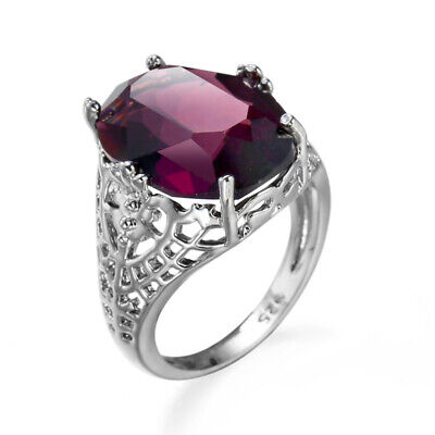Huge 925 Silver 6-10 Bridal 6Ct Size Alexandrite Ring Wedding Engagement Natural