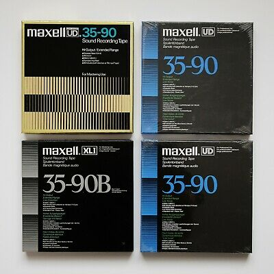 Maxell UD 35-90 XLI B Reel to Reel Professional Sound Recording Tape - 2 Sealed