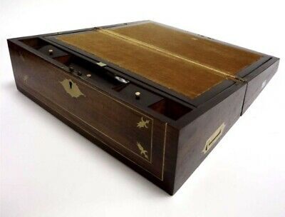 FINE VICTORIAN ROSEWOOD WRITING SLOPE Beautiful Example