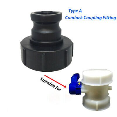 CAMLOCK COUPLING FITTING, IBC TANK, TYPE A Cam & Groove 3/4'' 1-1/2'' 2'' MALE