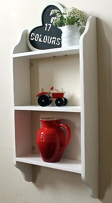 Solid Pine Traditional Wall Mounted Shelf Natural Wood Or Hand-Painted Shelving
