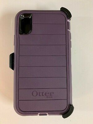 Otterbox Defender Pro Series Case for Apple iPhone XR with Holster Purple Nebula