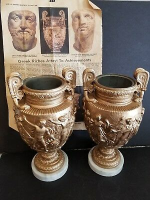 Pair of Historic Replicas of The  Urn's of Roman/Greek Late 19th Century