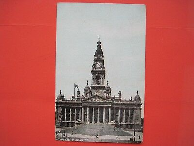Antique 1907 RP postcard of the TOWN HALL - PORTSMOUTH Hampshire