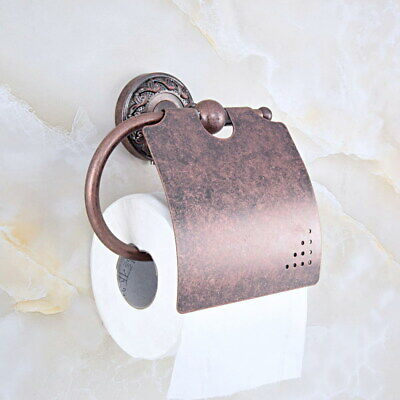 Rome Red Antique Copper Bathroom Wall Mounted Toilet Paper Roll Holder fba158