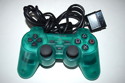 Dualshock 2 Emerald Green Controller Sony SCPH-10010 Playstation 2 PS2 System