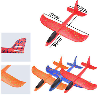 1x 37*36cm EPP Foam Hand Throw Airplane Outdoor Launch Glider Plane Kids Toy DDE