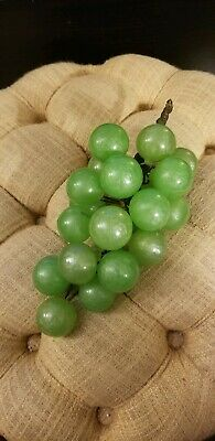 Vintage Mid Century Huge Lucite Acrylic Green Luster Grapes, 12""