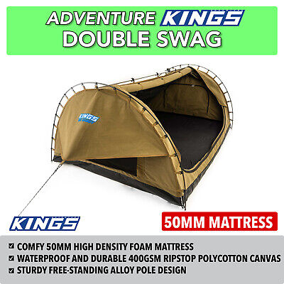 Double Swag Camping Beach Hiking Adventure Big Daddy Canvas Dome Tent New