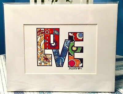 NEW Brighton Tom Clancy Love Groove Matted Art Print Bold Abstract Artwork NIP
