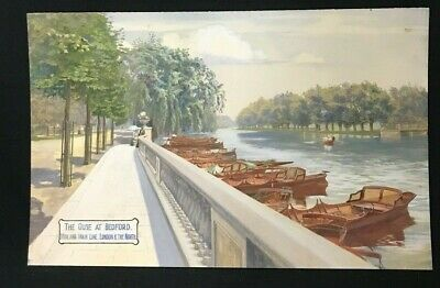 1910 Watercolour Attributed To A R Quinton The Ouse At Bedford Midland Main Line
