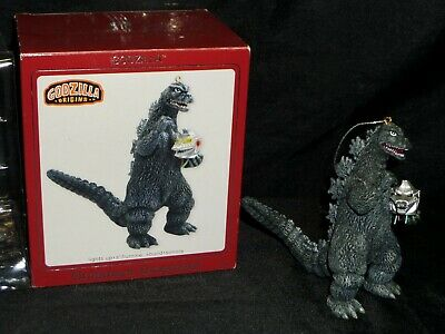 2008 American Greetings Heirloom Godzilla Ornament in Box w/ Lights & Sounds