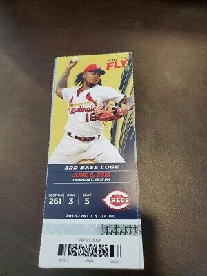 St. Louis Cardinals Cincinnati Reds MINT Season Ticket 6/6/19 2019 MLB Stub