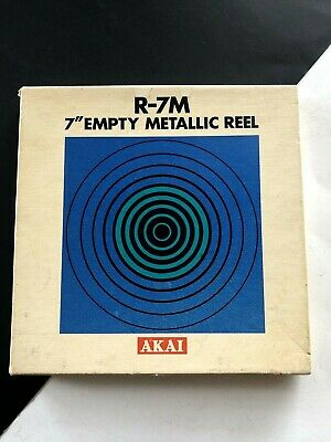"Akai R-7M Empty Metal 7"" Reel in Original Box for Reel to Reel"
