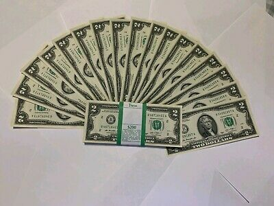Uncirculated $2 Two Dollar bill note BEP Lucky USD Free SHIPPING!