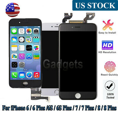 For iPhone SE/6/6S/7 Plus LCD+Touch Screen Digitizer +Button Replacement