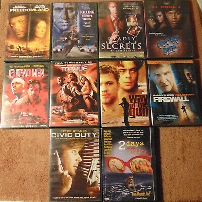 Lot of 10 ACTION / CRIME THRILLER DVDs - Harrison Ford  James Caan  Ice Cube +