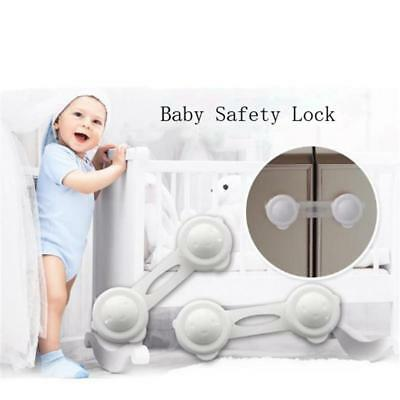 Child Door Handles Safety Sliding Lock Kitchen Cabinet Cupboard Slide Lock JJ
