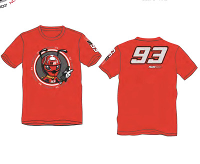 Marc Marquez 93 Ant red T-Shirt official collection Located in USA