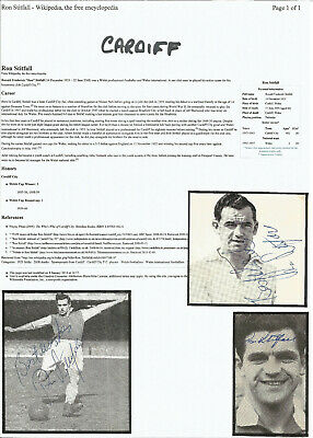 Football Autographs Ron Stitfall Signed Magazine Photographs & Bio Sheet F294
