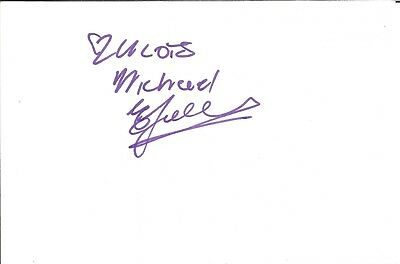 Elton Landrew actor signed white card dedicated in person autograph Z3239