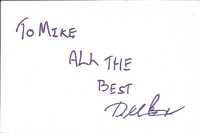 David McDuff actor signed white card dedicated in person autograph Z3254