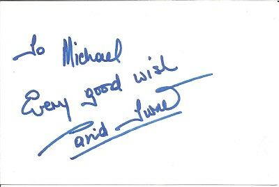 David Turner actor signed white card dedicated in person autograph Z3202