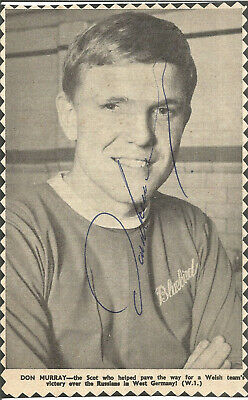 Football Autograph Don Murray Signed Newspaper Photograph & Bio Sheet F305