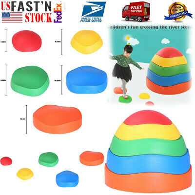 Early Childhood Education Sense Balance Toy Wave Rainbow Crossing River Stone