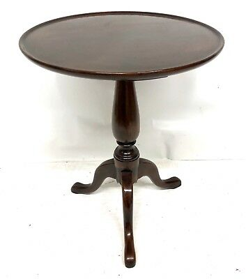 Antique EDWARDIAN Solid Mahogany Wine Occasional Table Lamp Stand (a84)
