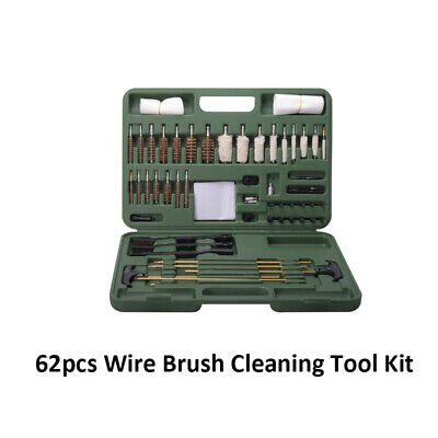 Wire Brush Kit Set 62 Pcs Cleaning Metal Remover Dust Rust Brass assortment