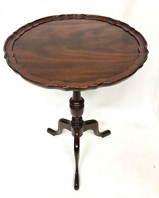 Antique EDWARDIAN Mahogany Wine Occasional Table Lamp Stand (a85)
