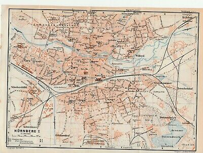 City plan of Nurnberg + Vicinity - Germany  c1929 By Wagner & Debes