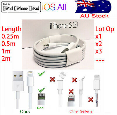 USB Lightning Charging Data Cable For Genuine Apple Charger iPhone5678 XS X iPad